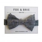 Charcoal Chambray Bow Ti...