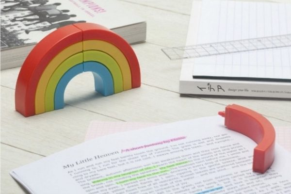Rainbow Highlighters marker