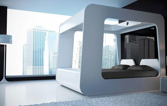 hican-bed-futuristic-bed-room-projection