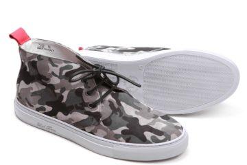 Del Toro Men's Suede Grey Camo Alto Chukka Sneaker 2