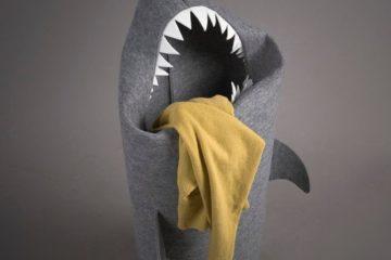 felt-shark-laundry-hamper