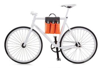 6 Pack Bike Bag on bike