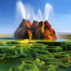 The Fly Geyser In Nevada