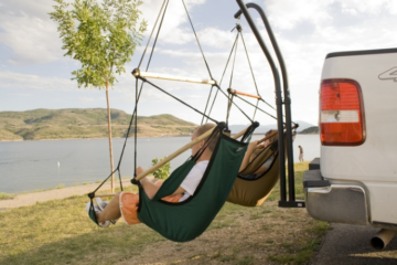 Trailer Hitch Stand and Hammock Chair Combo 2