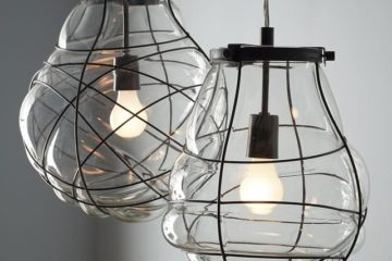 Organic Blown Glass Pendant
