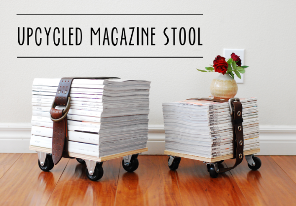 Do It Yourself: a Stool with Old Magazines