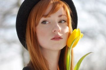 Beautiful Redhead Woman Portrait 23