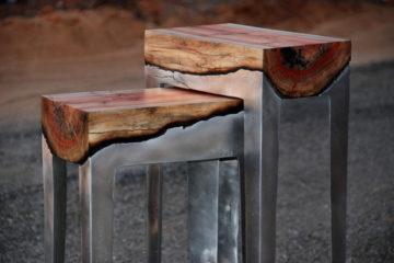 Aluminum Tree Trunks Furniture