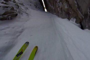 insane ski line