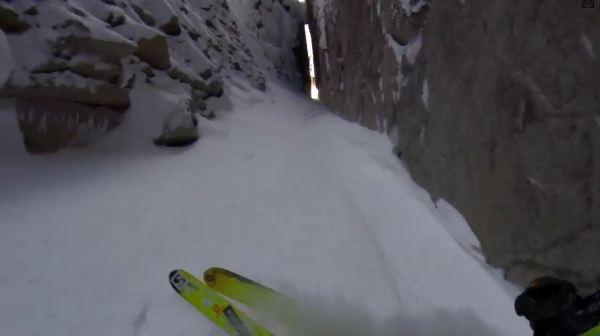 insane ski line video