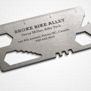 broke bike business card
