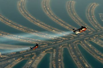 jetpack flying over Dubai video