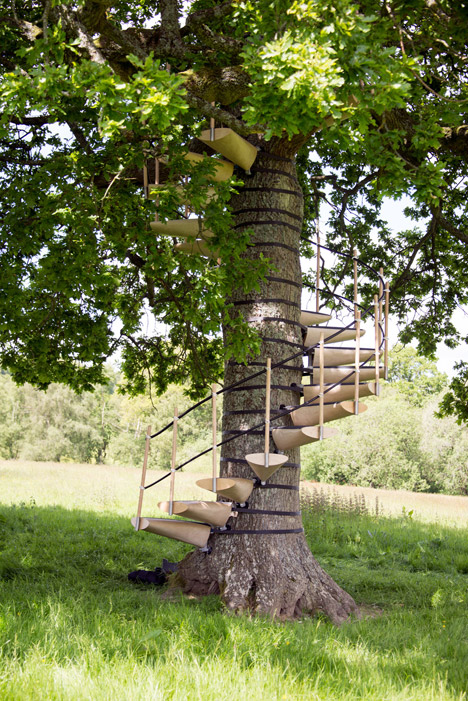 Strap This Spiral Staircase Onto Any Tree Hispotion
