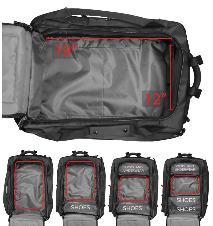 Nomatic Multi Functional Travel Bag Hispotion