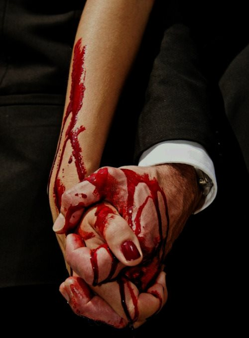bloody hand holding - photo #45
